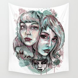Faces and Color Wall Tapestry