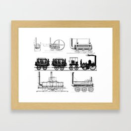 Train Montage Framed Art Print