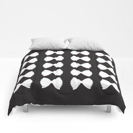 Pasta Series: Farfalle Pattern, Black Comforters