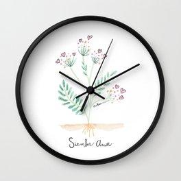 Siembra Amor Wall Clock