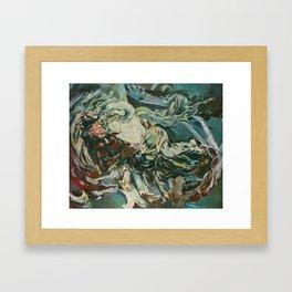 Nightmare in the Tempest: Freddy Krueger Framed Art Print