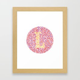 """L"" Eye Test Letter Circle Framed Art Print"
