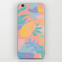 Lemons in Amalfi / Abstract shapes, Pink, Turquoise, Yellow, Lavender iPhone Skin
