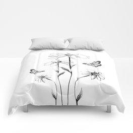 Flowers and butterflies 2 Comforters