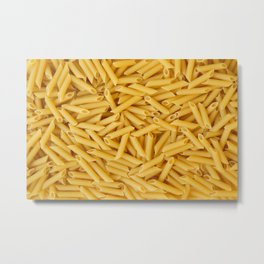 Raw penne pasta Metal Print