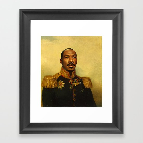 Eddie Murphy - replaceface Framed Art Print