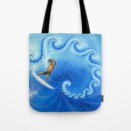 Surfractal Tote Bag