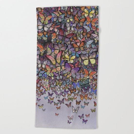 butterfly cascade Beach Towel