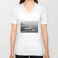 ruben ireland V-neck T-shirts featuring Ireland Oceanview by Dustin Hall