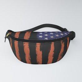 Grunge USA on black Fanny Pack