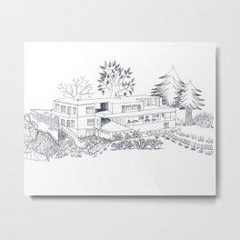 mies house Metal Print