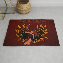 Resident Evil Claire Redfield Jacket Rug