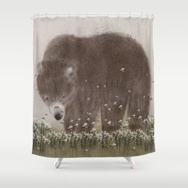 The flight of the bumble bee Shower Curtain