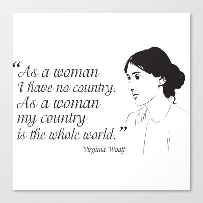 Virginia Woolf Feminist Quote Canvas Print By Creativebynature