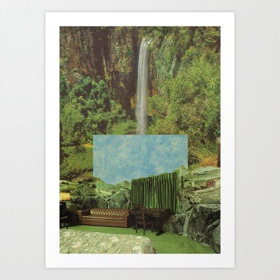 verde & cielo Art Print