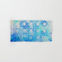 Elegant Islamic Geometric Blue Pattern Hand & Bath Towel