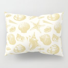 Seashells Pattern 6 - Gold Pillow Sham