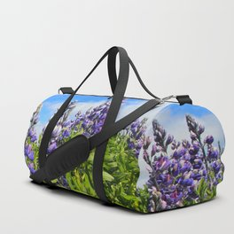 Summer Lupine in Iceland Duffle Bag