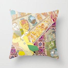 old grandma Throw Pillow