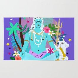 Lord Shiva meditates Rug
