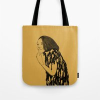 witch Tote Bags featuring Witch by Skinny Gaviar