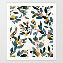 Clementine Sprigs Art Print