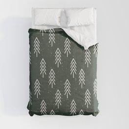 Pine Trees . Olive Comforters