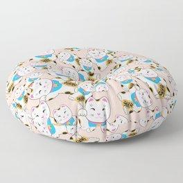 Maneki-neko good luck cat pattern Floor Pillow