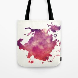 Greensboro North Carolina city watercolor map in front of a white background Tote Bag