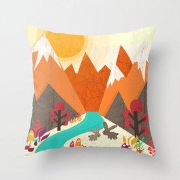 April Throw Pillow