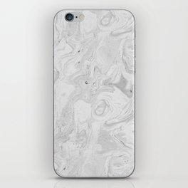 Grey marble iPhone Skin