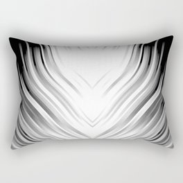 stripes wave pattern 3 bwi Rectangular Pillow