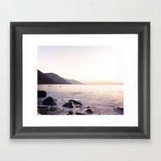 Water Washing Over the Rocks at Sunset, Waterville Beach, County Kerry, Ireland Framed Art Print