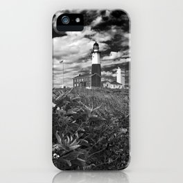 "Montauk Point Lighthouse ""The end"" iPhone Case"