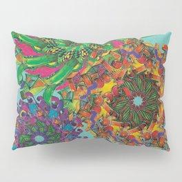 Swirls Abstract - Teal Pillow Sham