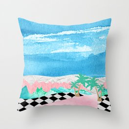 Welcome to Pastel Pointe Throw Pillow