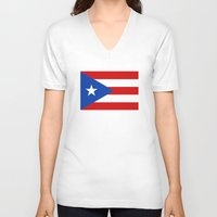 puerto rico V-neck T-shirts featuring Puerto Rico by McGrathDesigns