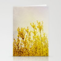 coldplay Stationery Cards featuring And it Was All Yellow by Olivia Joy StClaire