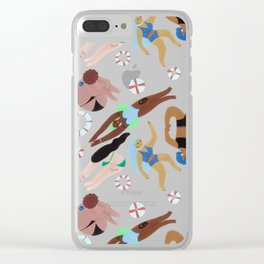 Swimming Clear iPhone Case