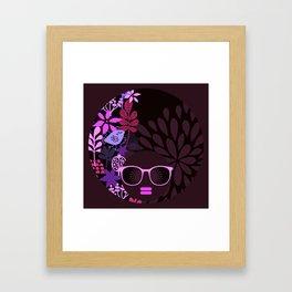 Afro Divva Magenta Lavender Eggplant Framed Art Print