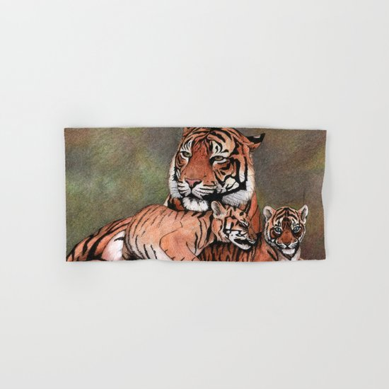 Family of tigers Hand & Bath Towel