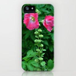 Hollyhock Heaven iPhone Case