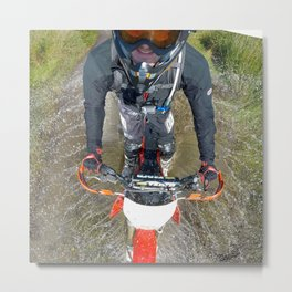 Enduro Puddle Metal Print