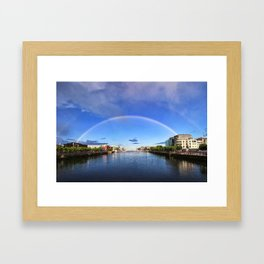 Double Rainbow over the Liffey Framed Art Print