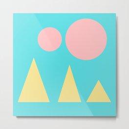 9   | 181117 Simple Geometry Shapes Metal Print