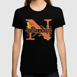 Thanksgiving N Monogram T-shirt