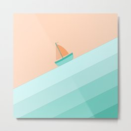 Boat on the Water #1 Metal Print