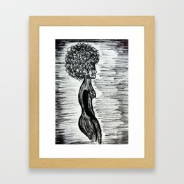 Girl In Between The Lines Framed Art Print