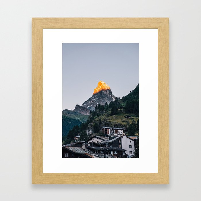Beautiful Matterhorn in Sunrise Framed Art Print
