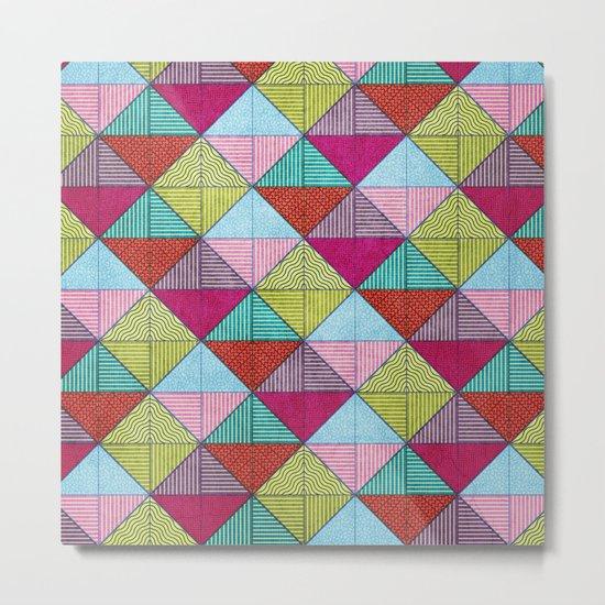 Colorful Seamless Rectangular Geometric Pattern V Metal Print